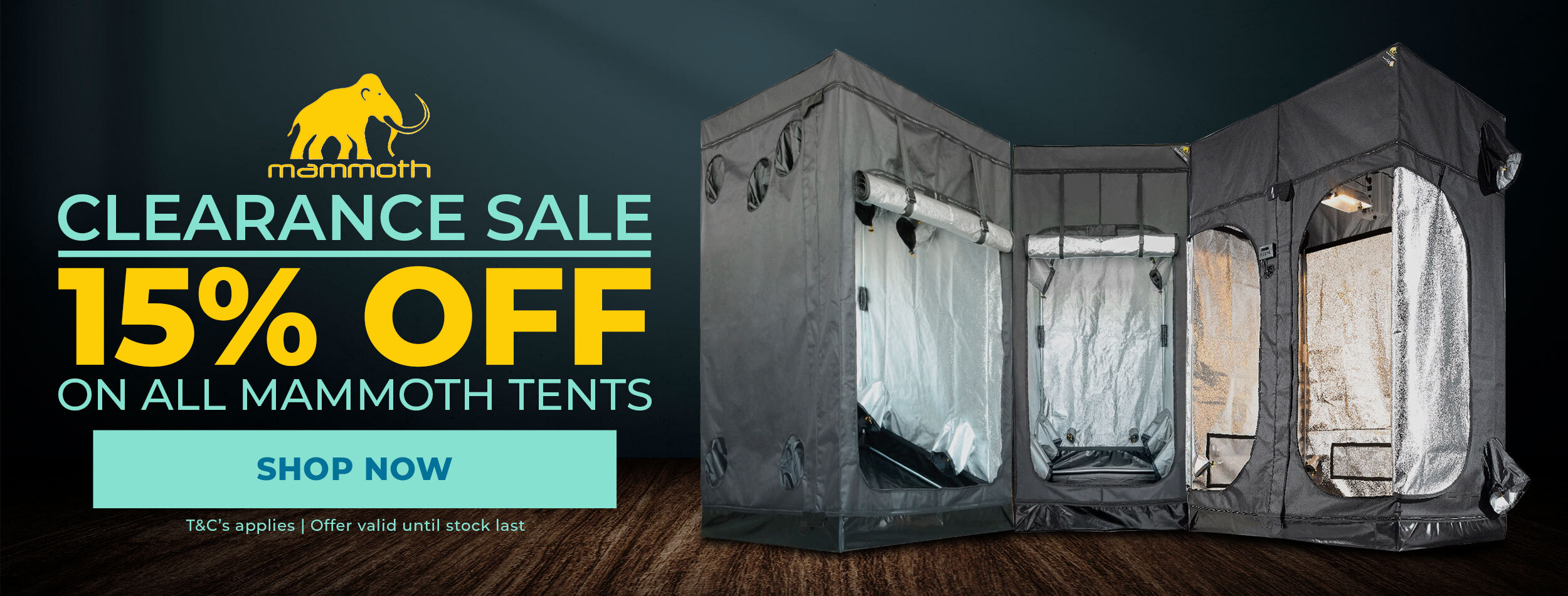 Mammoth Grow Tent Clearance Sale - 15% OFF