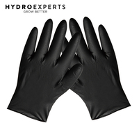 100 x Disposable Black Nitrile Gloves - S M L XL | Latex Powder Free