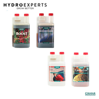 Canna Boost + Cannazym + Rhizotonic + PK 13-14 Additives - 4 x 1L Pack