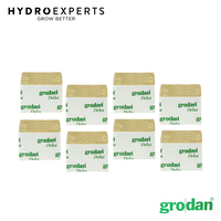[1 Box] Grodan Rockwool Propagation Cube - 75MM X 75MM |No Hole|384 Cubes