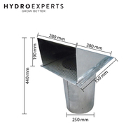 "Galvanized Steel Screened Wall Vent - 250MM (10"" Inch) 