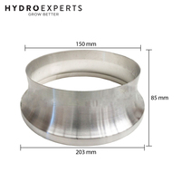 "Aluminium Duct Reducer - 8"" Inch (200MM) to 6"" Inch (150MM) 