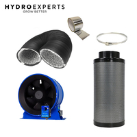 "Hyper Fan 200MM (8"" Inch) + Pro Grow Carbon Filter 200 x 500MM 450CFM + 5M Duct"