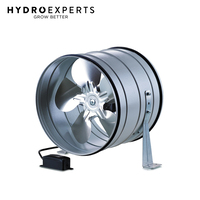 "Blauberg Turbo-M Axial Inline Fan w/ Wall Bracket - 250MM (10"") 