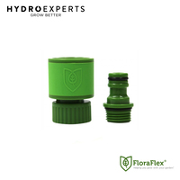 "FloraFlex GHT to NPT Quick Disconnect Set - 19MM | 3/4"" Garden hose+1/2"" Thread"