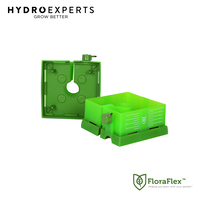"FloraFlex Square Flood & Drip Shield w/ Quicker Drippers - 150MM (6"")"