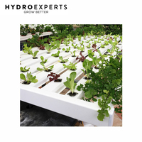 Mini Farm Complete NFT Grow Kit - 96 Plant Sites | 3M x 8 Rows | Salad Farm Bench
