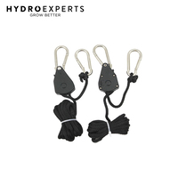 Pair of Rope Ratchet (Hanger) - 68KG Capacity | For Light Fixture | Carbon Filter