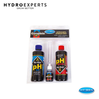 Hy-Gen pH Complete Control Kit - 150ML pH Up & Down | pH Indicator Kit