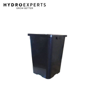 Black Square Pot Bucket - 24L | Diameter 290MM | Height 400MM