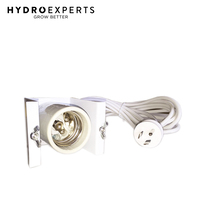 E39/40 Lamp Holder with Round Earth Light Socket - 4M Cable | HID