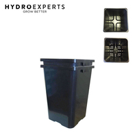 Square Flower 18L Pot with Hole + 24L Bucket Kit