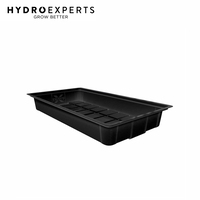 X-Trays Flood Table - 75CM x 136CM x 18CM | 2 x 4 ft | Flood & Drain Tray | Black