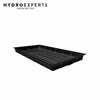 X-Trays Flood & Drain Tray Table - 133CM x 254.5CM x 18CM | 4 x 8ft | Black