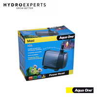 Aqua One Maxi Water Pump 105 - 2200L/H | 12x8x15.5CM | 19+21MM Outlet Size | 45W