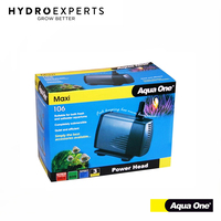 Aqua One Maxi Water Pump 106 - 3200L/H | 14x10x17.5CM | 19+21MM Outlet Size |80W