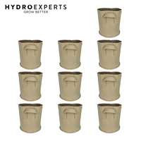 10 x Plant Fabric Pot - 26.5L | 600GSM | Tan | D: 30CM | H: 30CM | 7 Gallon
